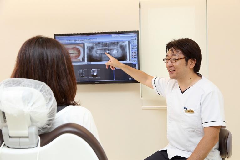 説明用モニター(たまプラーザ青葉区歯医者歯科口コミ評判おすすめ)